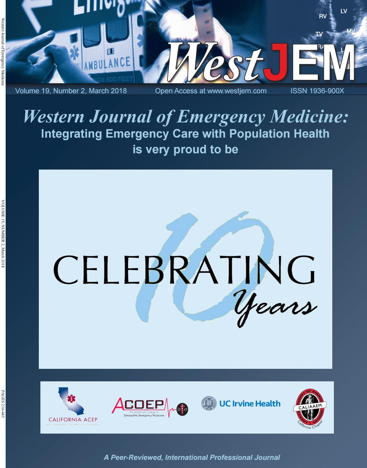 Volume 19 Issue 2 by Western Journal of Emergency Medicine - issuu