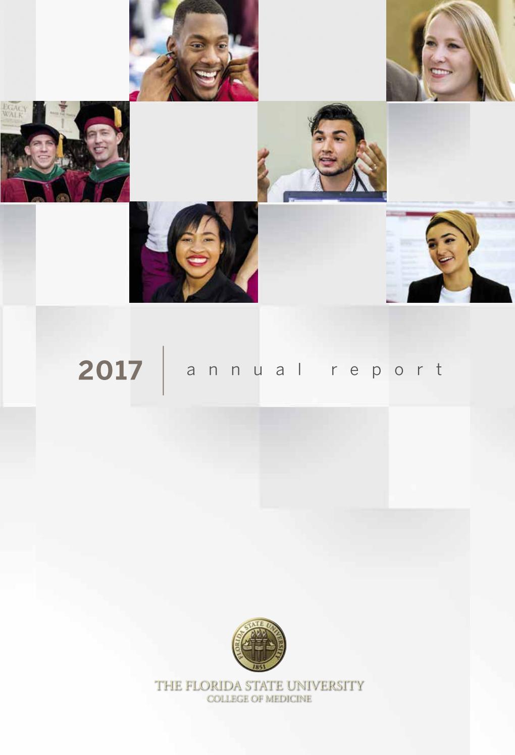 Florida State University College Of Medicine 2017 Annual Report By Fsu College Of Medicine Issuu