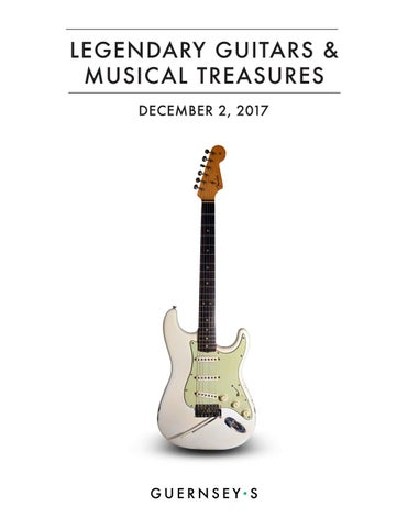36d8cfb89ea Legendary Guitars & Music Treasures Catalogue 2017 by Guernsey's - issuu