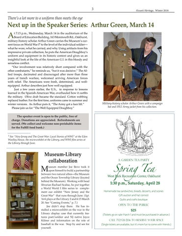 Page 3 of Next up in the Speaker Series: Arthur Green, March 14