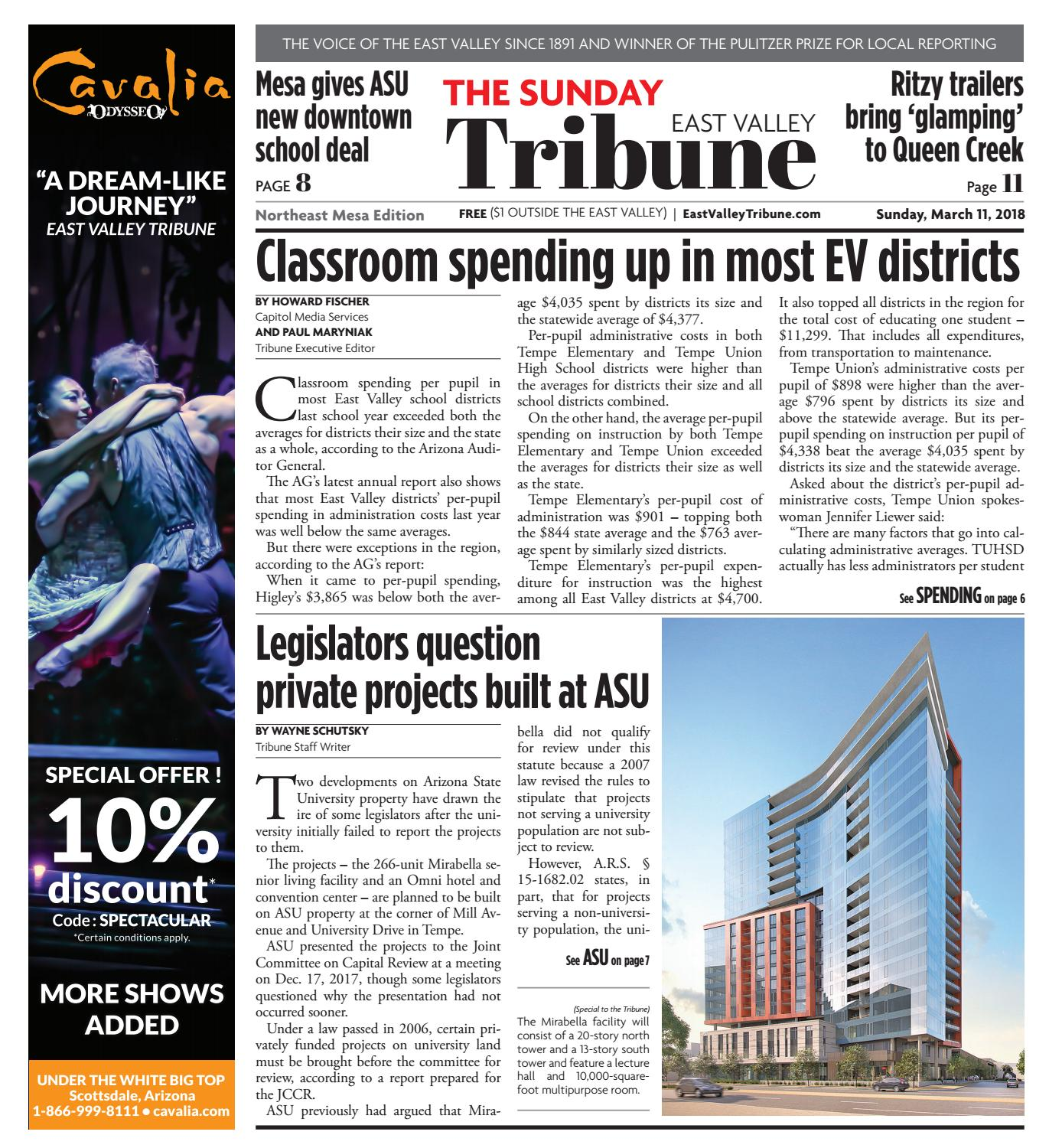 East Valley Tribune - Northeast Mesa March 11, 2018 by Times