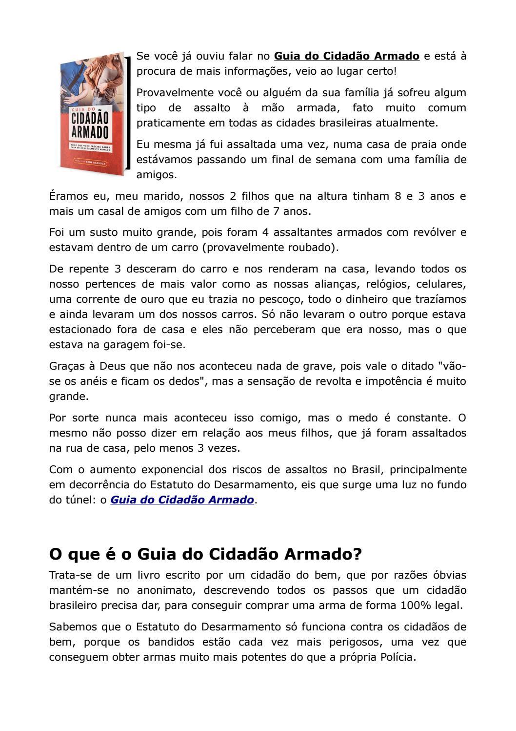 Guia do cidado armado by waylle issuu fandeluxe Choice Image