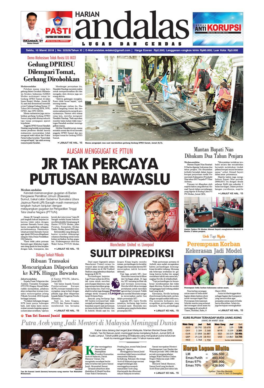 Epaper Andalas Edisi Sabtu 10 Maret 2018 By Media Issuu Fcenter Lemari Pakaian Wd Hk 1802 Sh Jawa Tengah