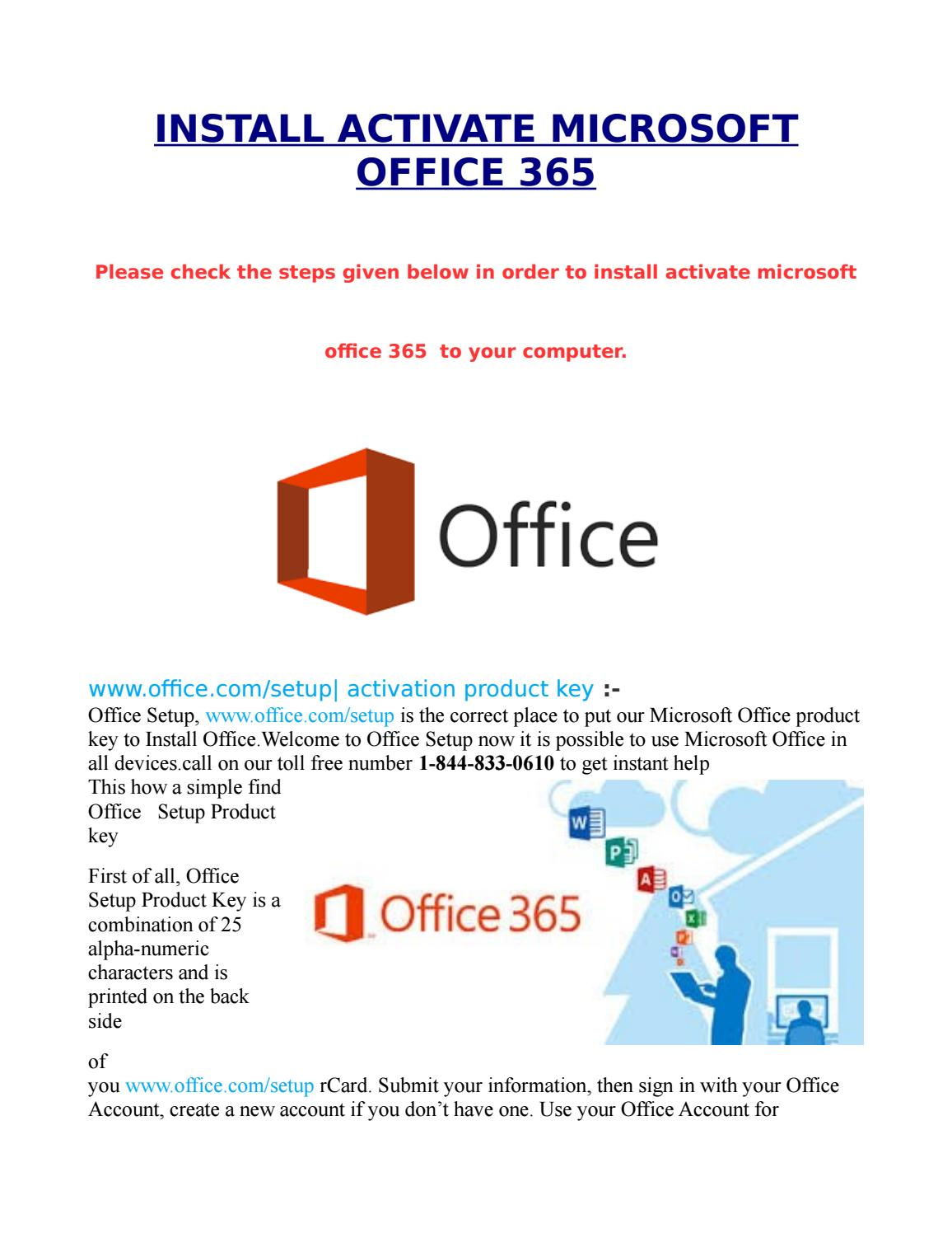 Activate office 365 21 by emailtosarika86 - issuu
