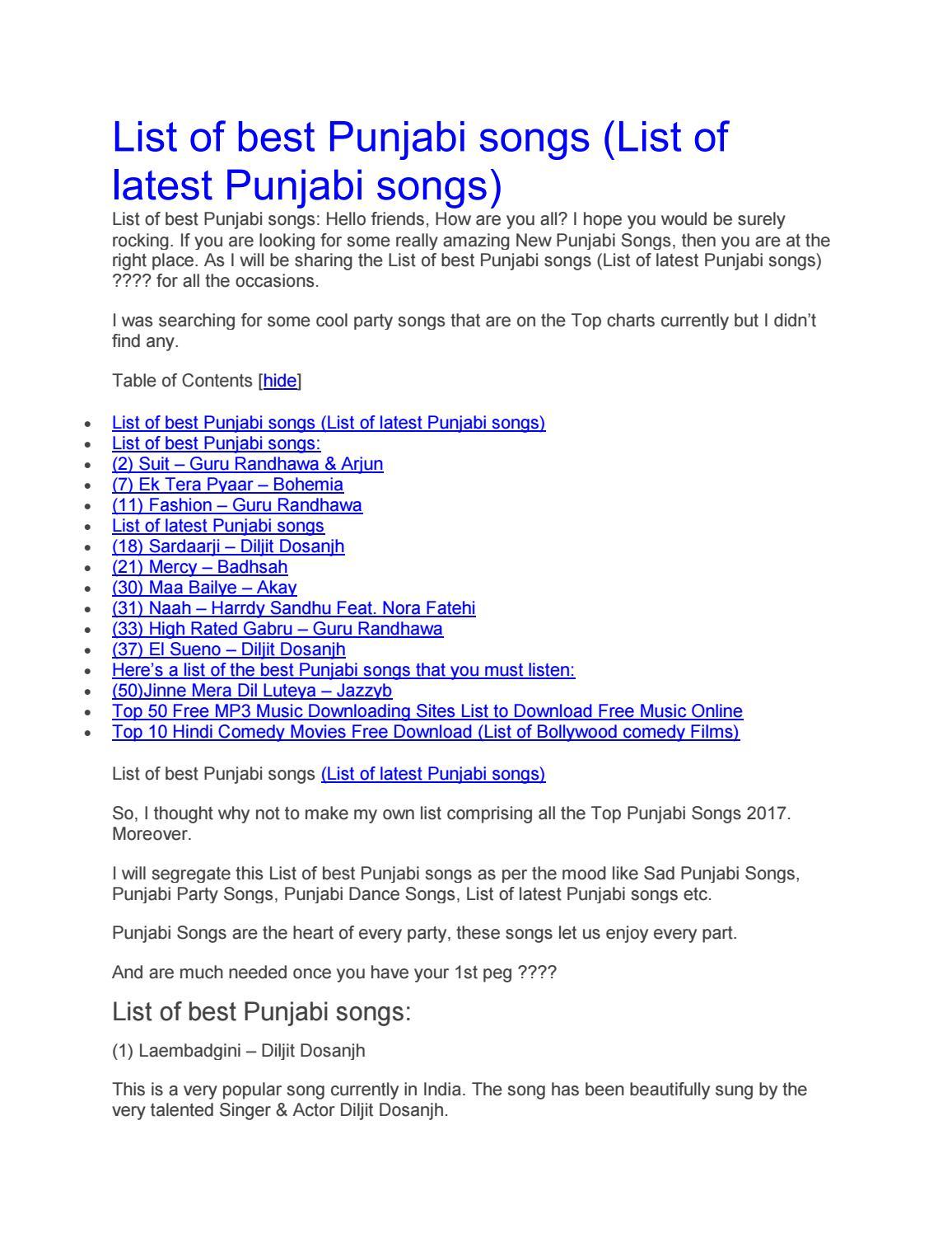 list of best punjabi songs by aniket issuu
