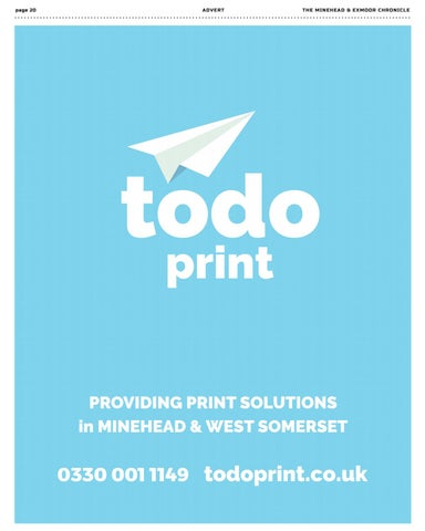 Page 20 of Printing services in Minehead and West Somerset.