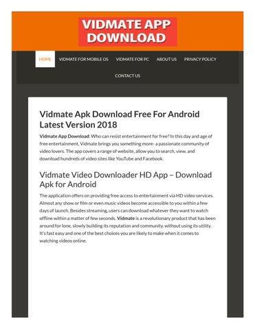 Vidmate Free Downloads by edensss - issuu