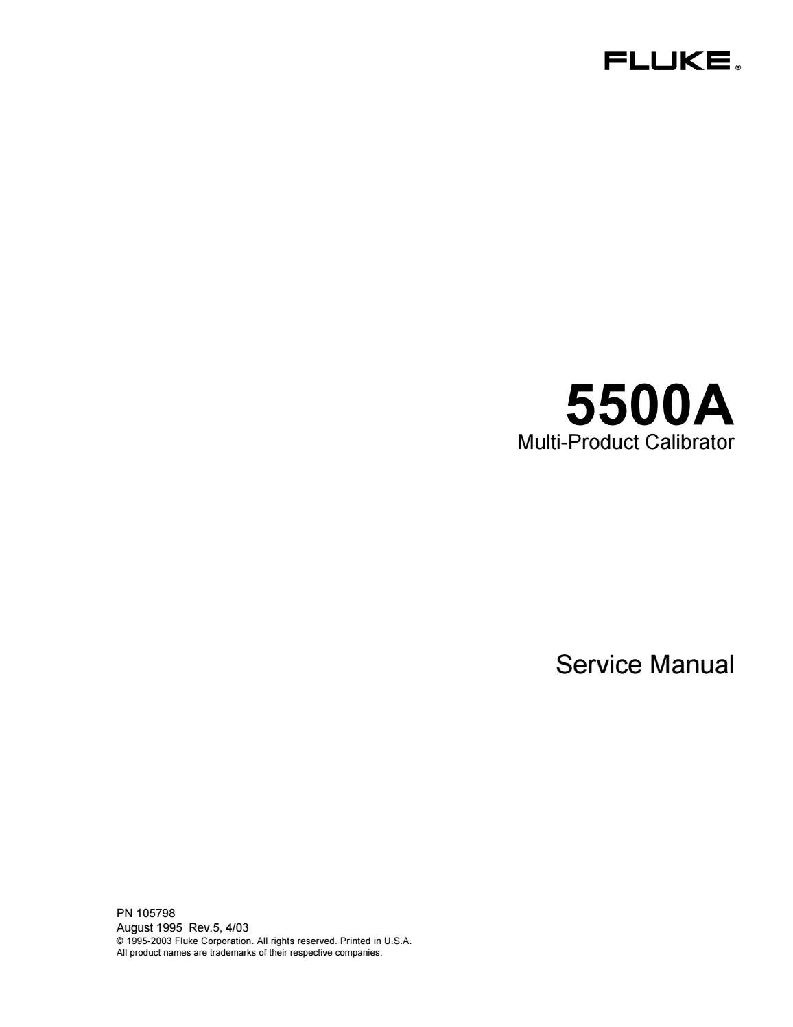 FLUKE 5500A SERVICE MANUAL WITH SCHEMATICS by Turhan - issuu