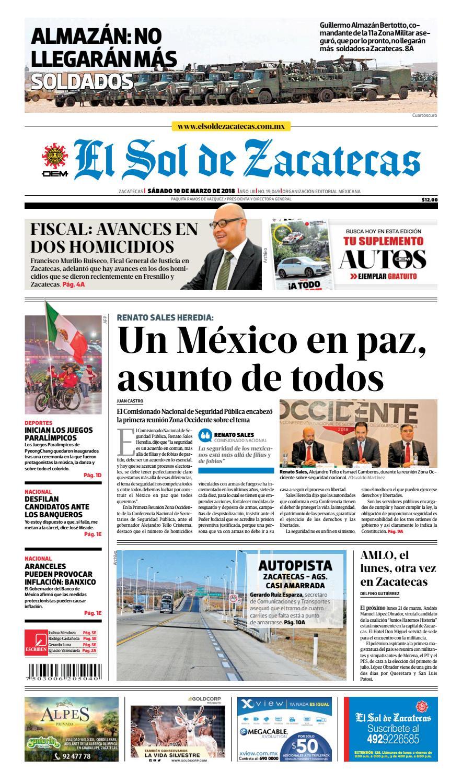 El Sol de Zacatecas 10 de marzo 2018 by El Sol de Zacatecas - issuu 12138de34ea