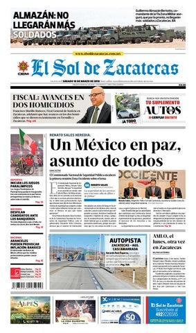 El Sol de Zacatecas 10 de marzo 2018 by El Sol de Zacatecas - issuu f87e091c3de68