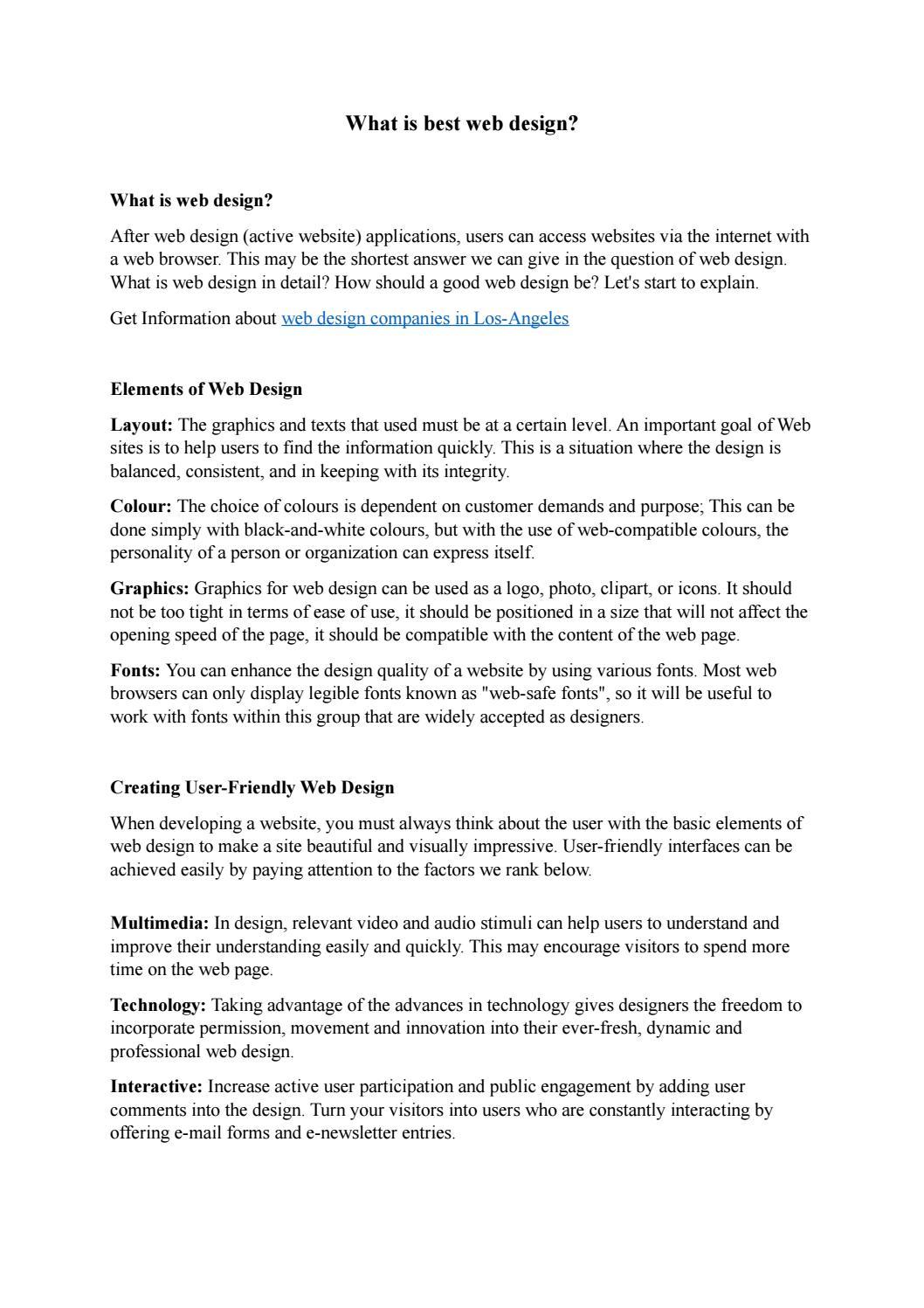 What is best web design by WebZool - issuu