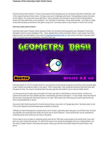 apk geometry dash lite full version