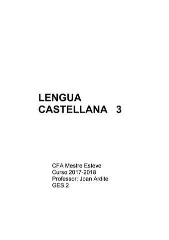 Castellano Iii C By Centre De Formació Dadults Mestre Esteve Issuu