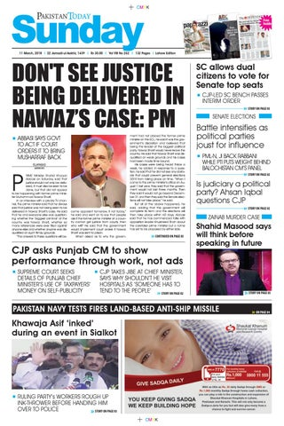 E paper pdf 11th march (lhr) by Pakistan Today - issuu