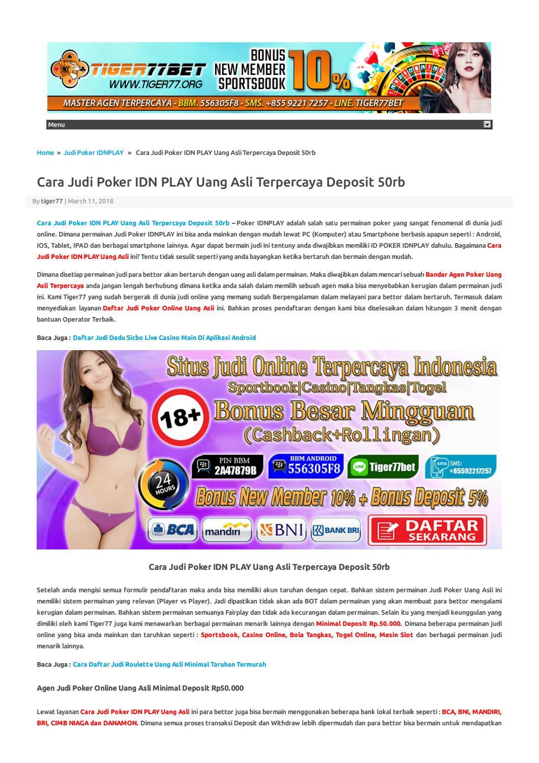 Info Tentang Online Terpercaya Idn Play