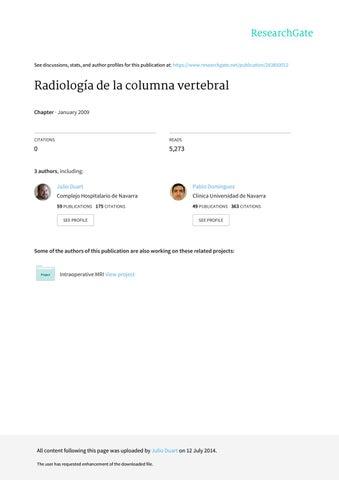 Radiologia de la columna vertebral by Miguel Angel De la Camara - issuu