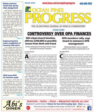March 2018 progress by Ocean Pines Progress - issuu
