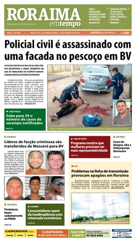 Jornal Roraima Em Tempo Edicao 881 By Roraimaemtempo Issuu