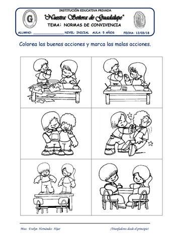 Normas De Convivencia Tema By Evelynabejitas Issuu