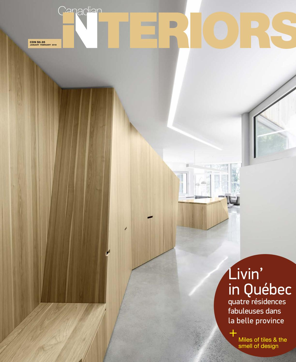Canadian interiors january february 2018 by iq business media issuu