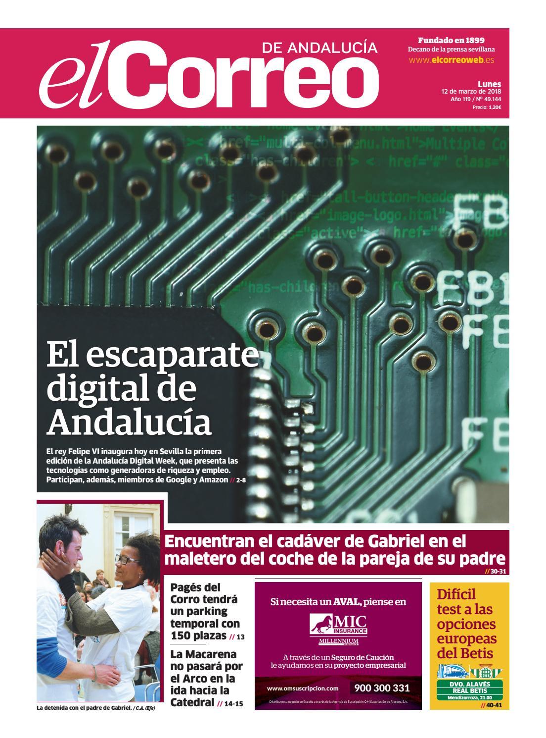 9946b4833 12.03.2018 El Correo de Andalucía by EL CORREO DE ANDALUCÍA S.L. - issuu
