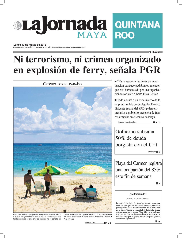 La jornada maya lunes 12 de marzo de 2018 by La Jornada Maya - issuu