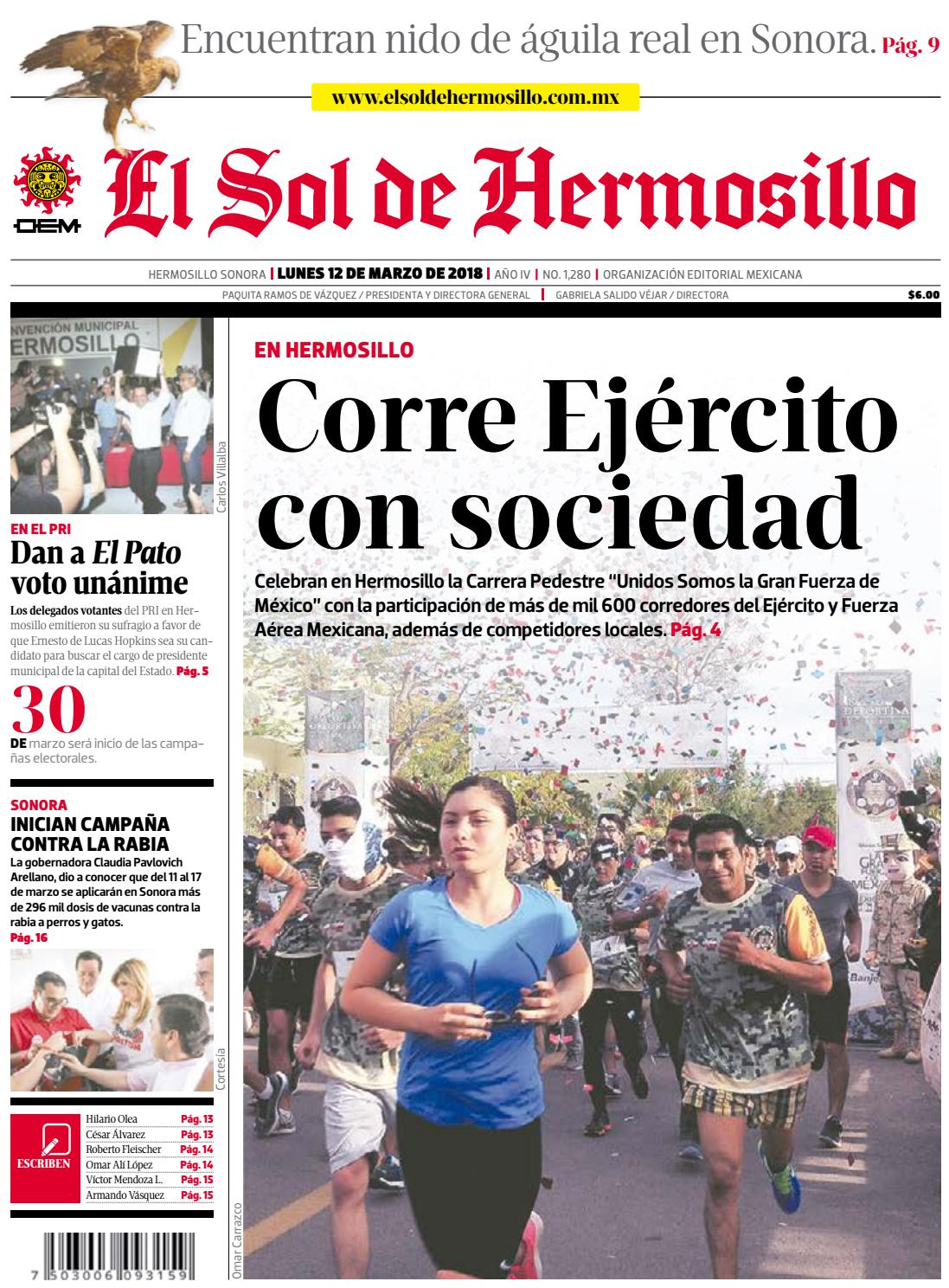 Edició impresa 12 de marzo 2018 by El Sol de Hermosillo - issuu 4170f9b1dfa3b