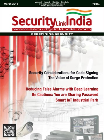 SecurityLink India Magazine March 2018 by Security Link India - issuu