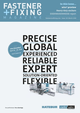 Fastener + Fixing Magazine #110 by Fastener + Fixing