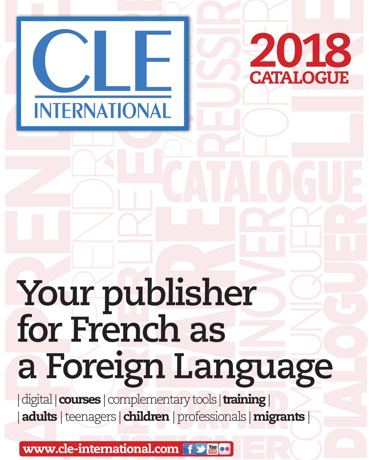 Catalogue Cle International 2018 English Version By Cle