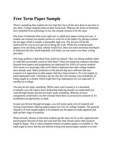 Free term papers sample sample mcat essay writing
