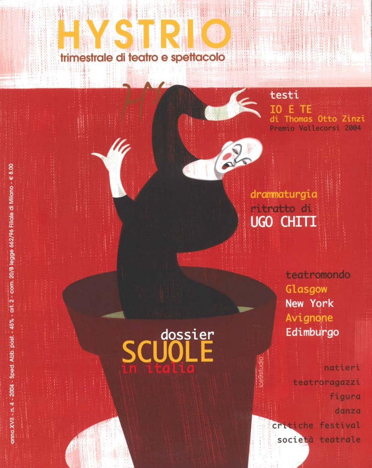 Hystrio 2004 4 ottobre-dicembre by Hystrio - issuu 8285f0fcf54