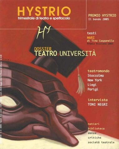 Hystrio 2005 2 aprile-giugno by Hystrio - issuu 3858c5f8d83