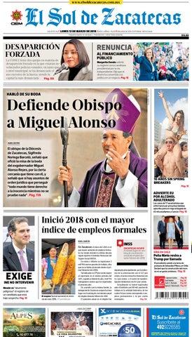 d150d3dee El Sol de Zacatecas 12 de marzo 2018 by El Sol de Zacatecas - issuu