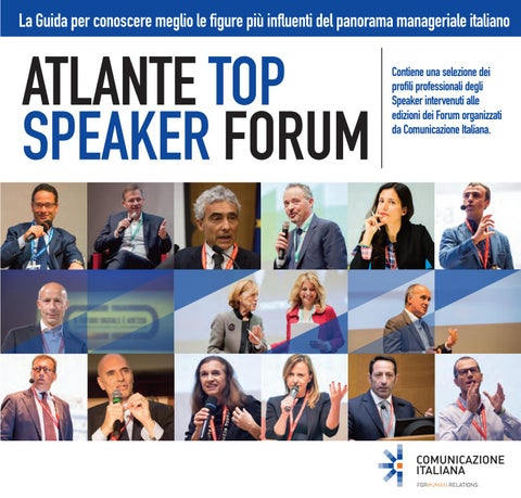 Atlante Top Speaker Forum by Comunicazione Italiana issuu