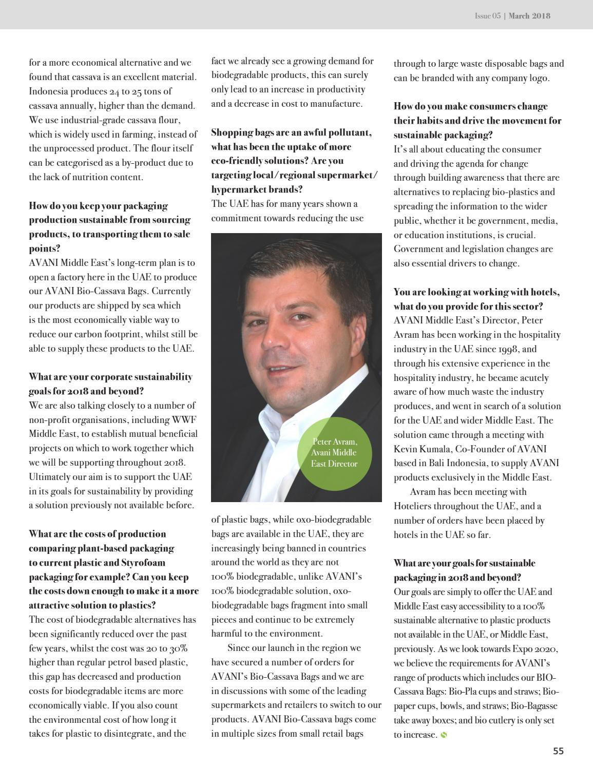 The Sustainabilist - Sustainable Production by Dubai Carbon