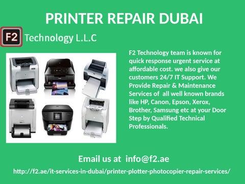 Grab Printer Repair Support & Service Dubai, Dial 600544549 by