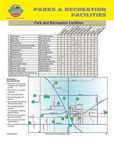 Page 45 of Facility Rentals