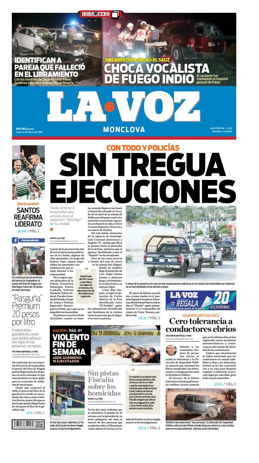 Periodico la voz edicion del 12 de marzo del 2018 by LA VOZ Monclova - issuu da12f31b48d8a