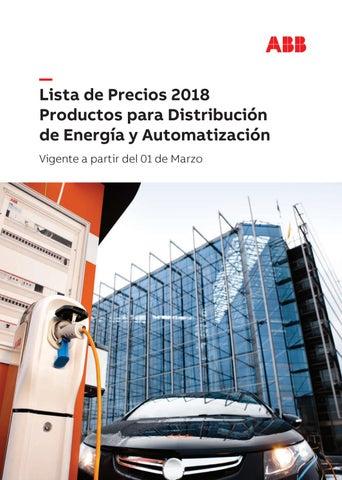86f403a431fd Lista de Precios 2018 Productos para Distribución de Energía y  Automatización Vigente a partir del 01 de Marzo