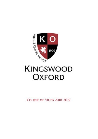 Course of Study 2018-19