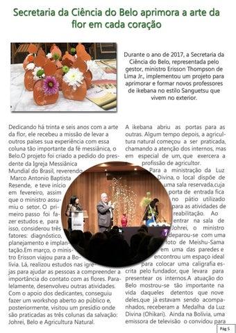 Page 5 of Secretaria da Ciência do Belo aprimora a arte da flor em cada coração