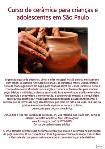 Page 9 of Curso de cerâmica para crianças e adolescentes em São Paulo