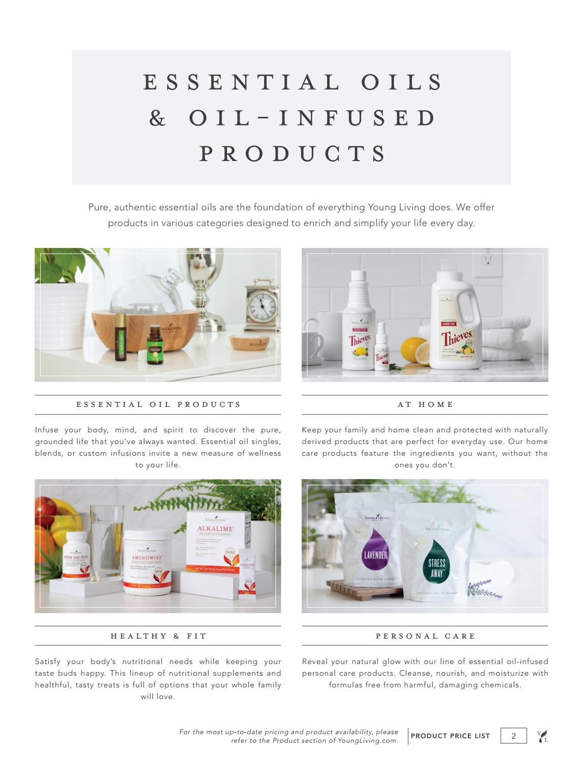 2018 US Product Price List v 1 by Young Living Essential