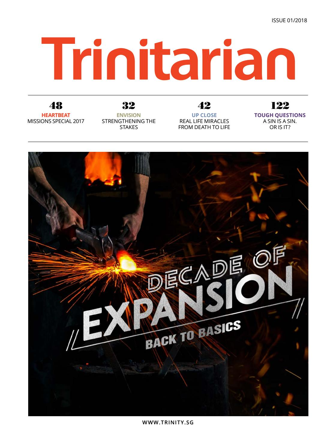 Trinitarian Magazine Issue 1/2018 by Trinity Christian