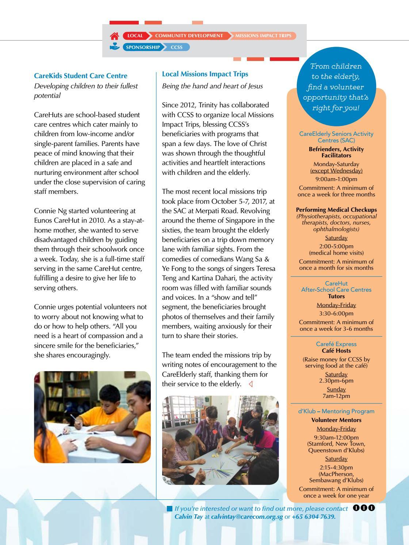 Trinitarian Magazine Issue 1/2018 by Trinity Christian