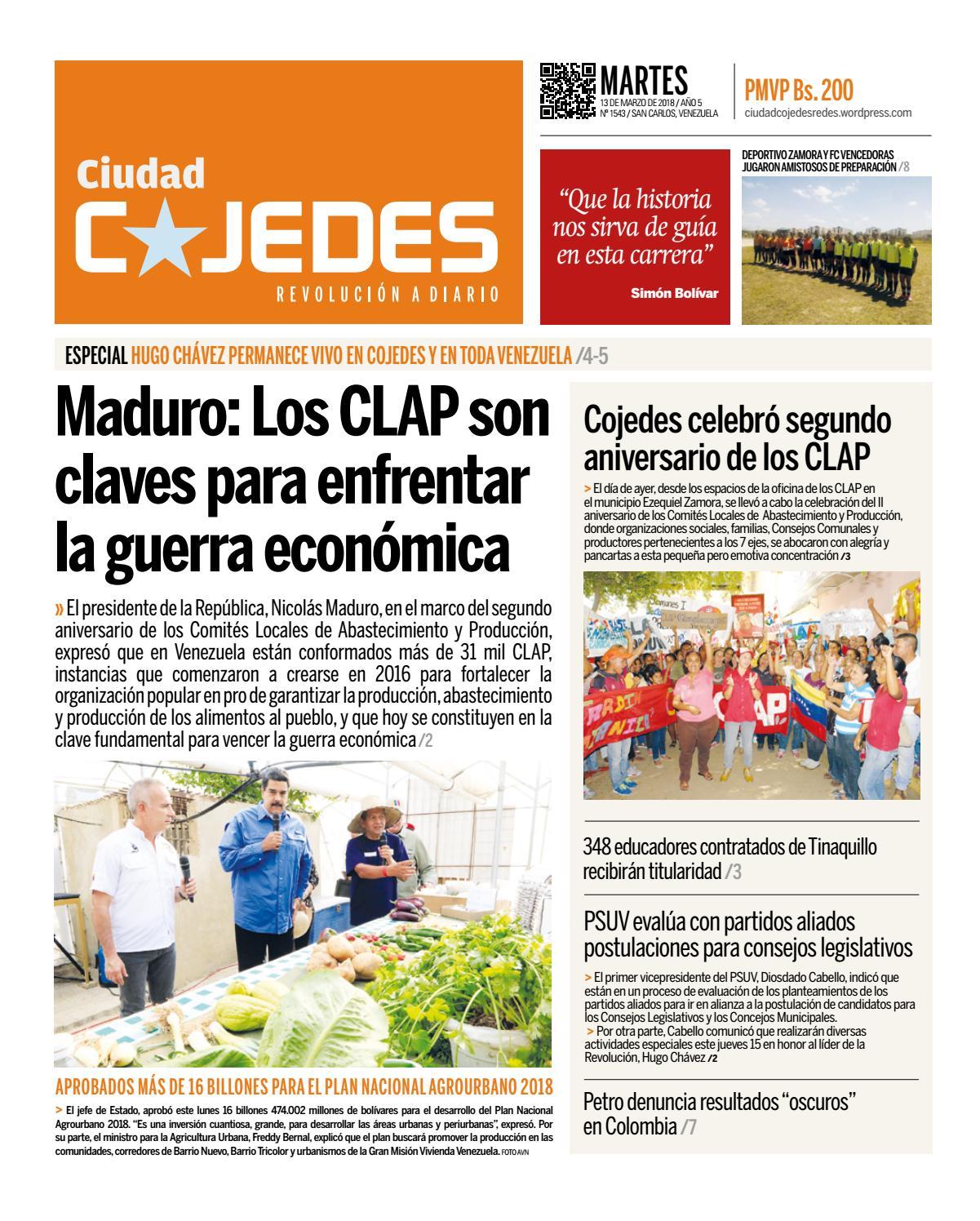 Edición 1543 diario ciudad cojedes martes 13 de marzo de 2018 by ...