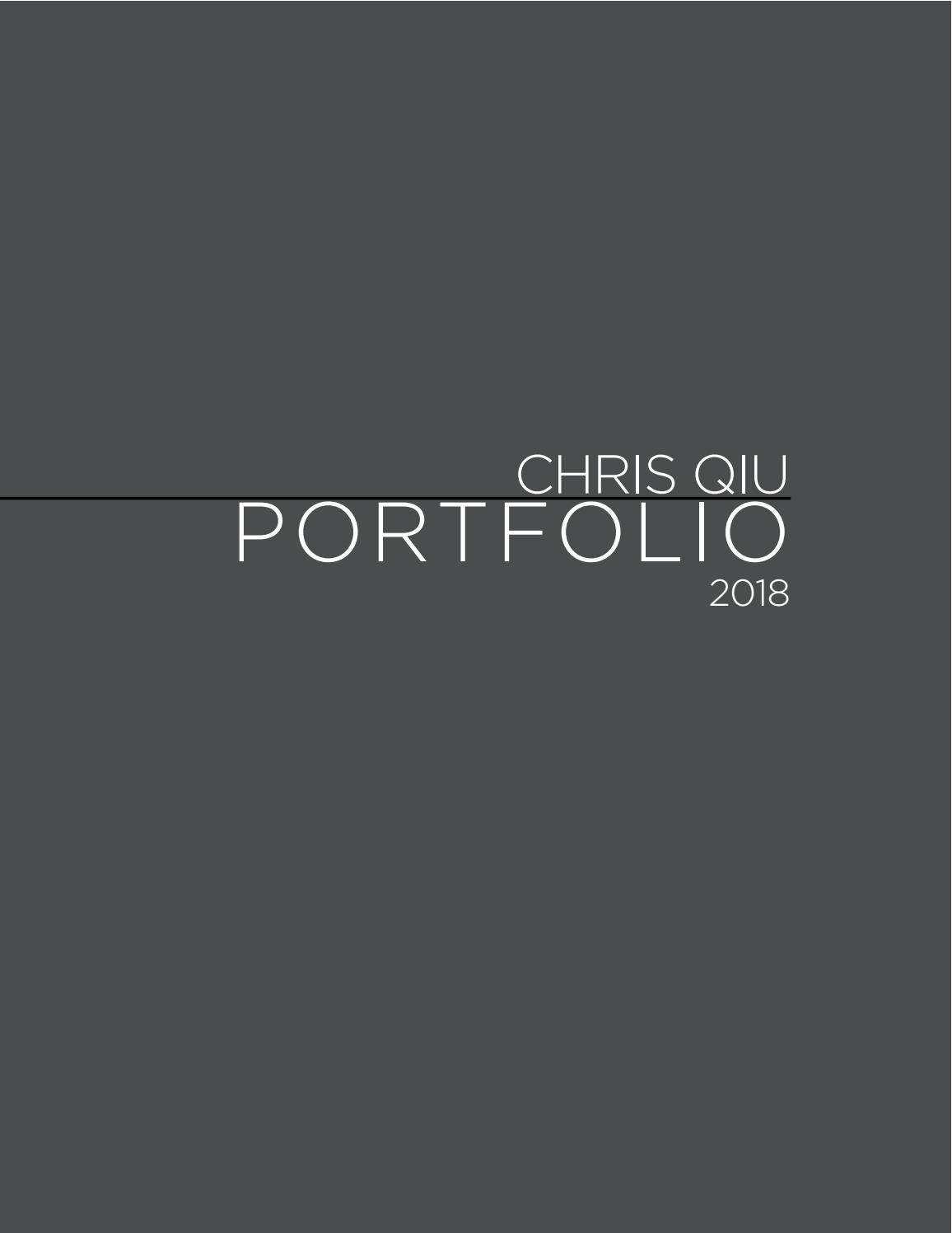 Outdated Chris Qiu Portfolio 2018 By Chris Qiu Issuu