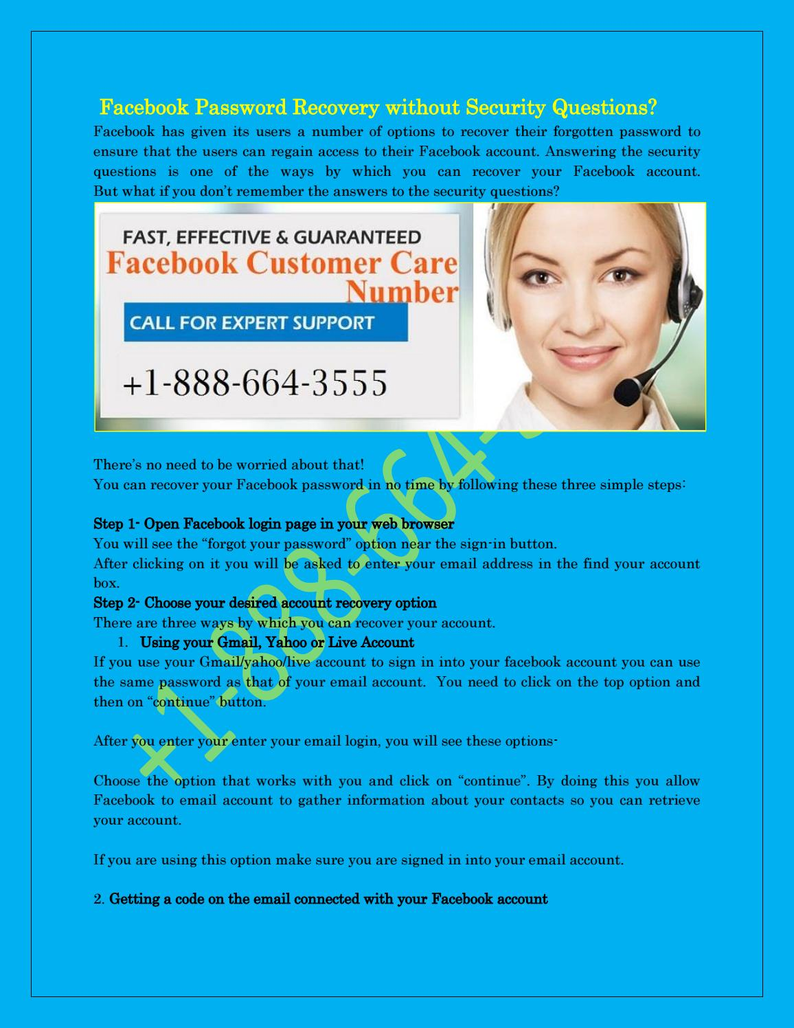 Facebook password recovery phone number +1-888-664-3555 by