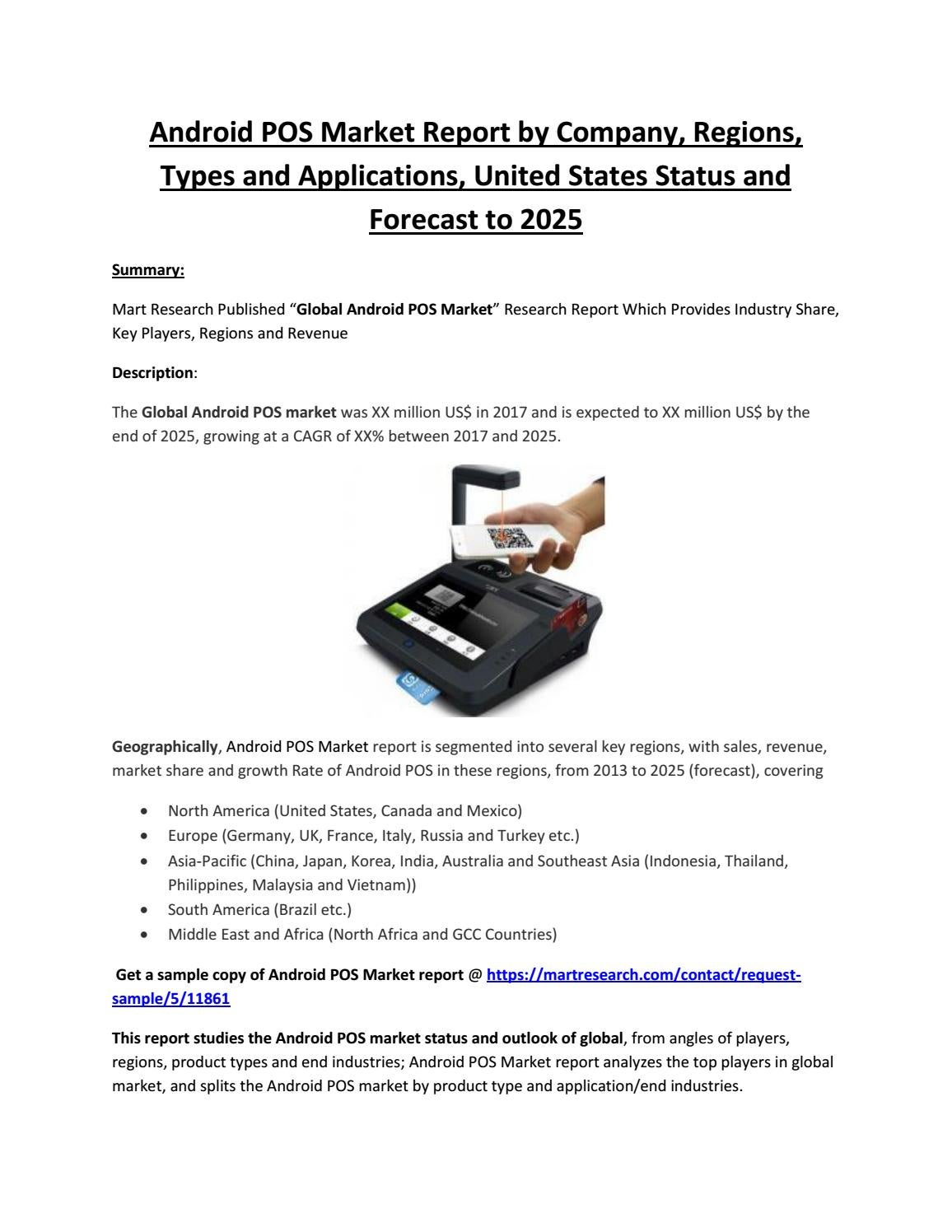 Android POS Market: 2018-2022 Global Industry Growth